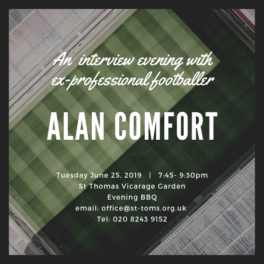 An interview evening with ex-professional football Alan Comfort